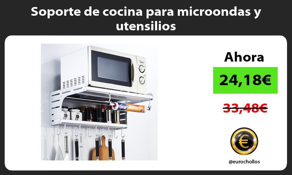 Soporte de cocina para microondas y utensilios