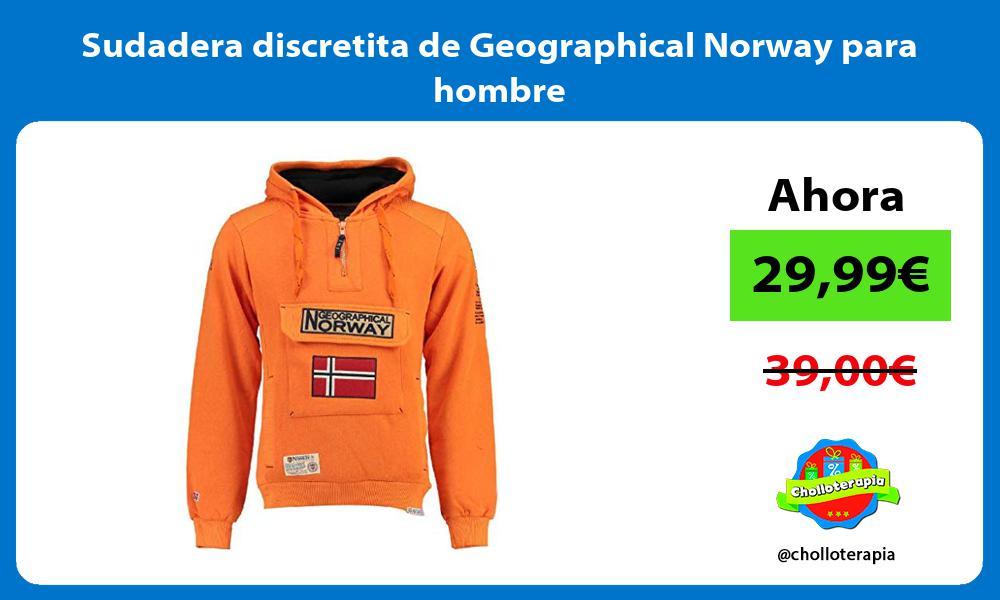 Sudadera discretita de Geographical Norway para hombre