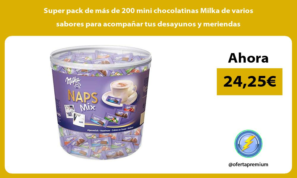 Super pack de más de 200 mini chocolatinas Milka de varios sabores para acompañar tus desayunos y meriendas