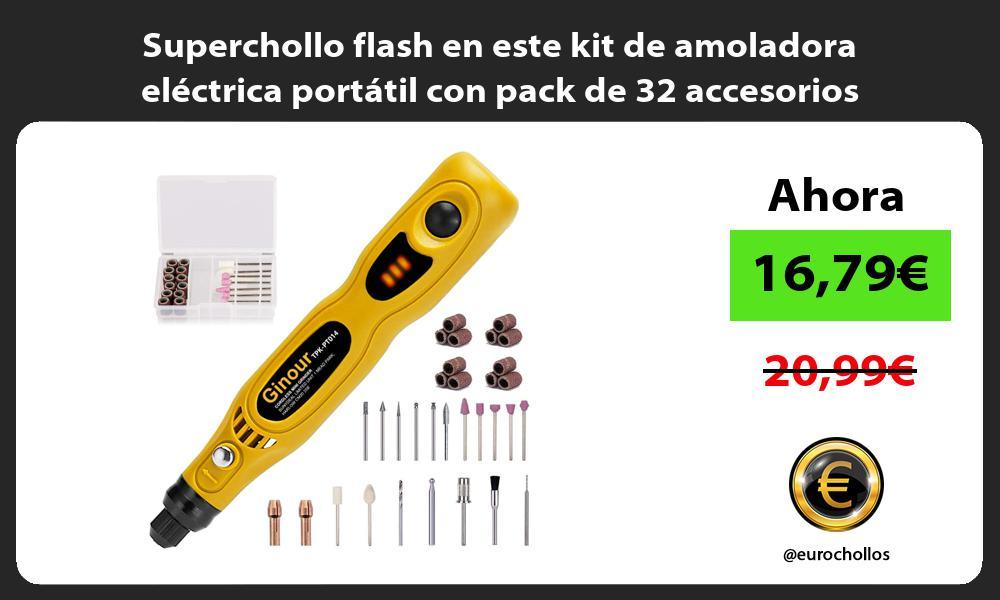 Superchollo flash en este kit de amoladora eléctrica portátil con pack de 32 accesorios