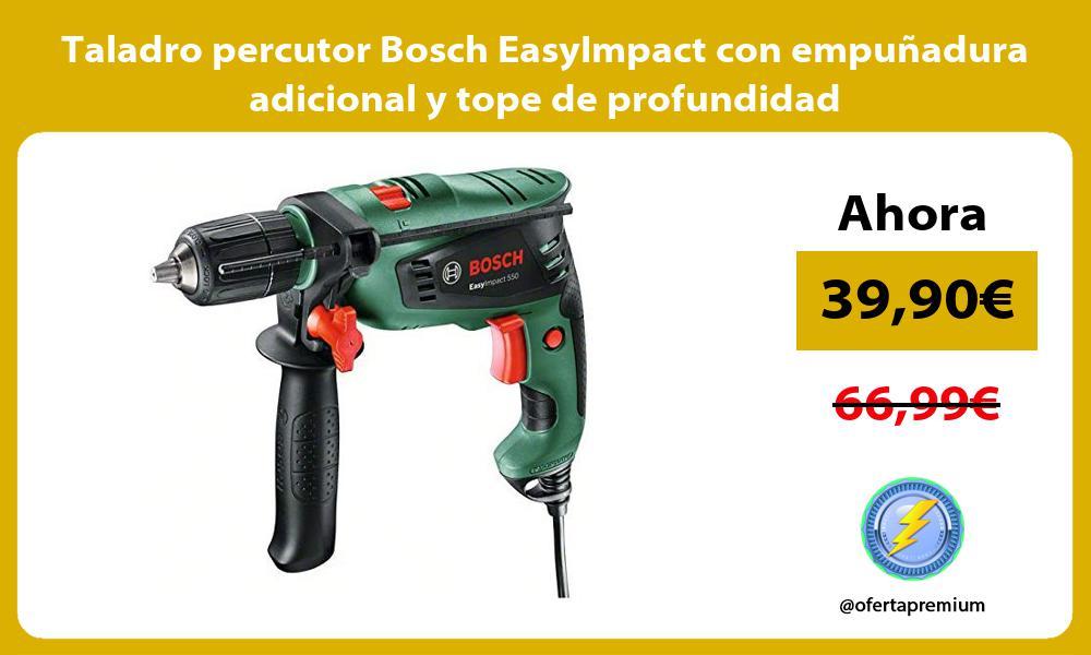 Taladro percutor Bosch EasyImpact con empuñadura adicional y tope de profundidad