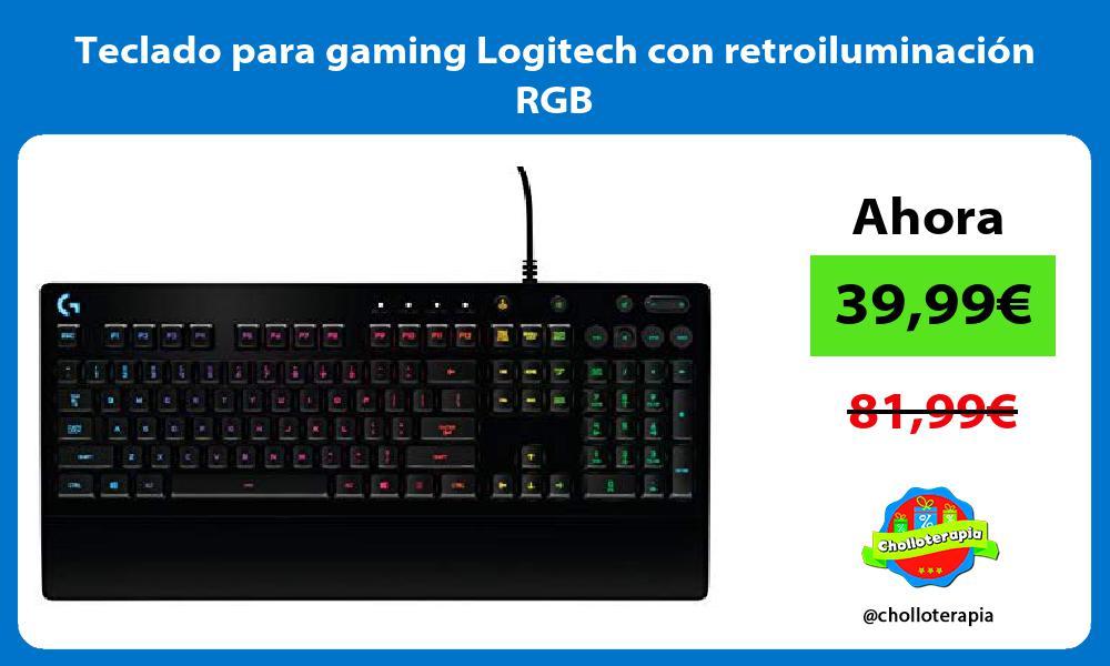 Teclado para gaming Logitech con retroiluminación RGB