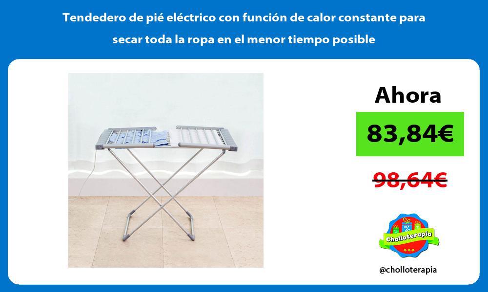 Tendedero de pié eléctrico con función de calor constante para secar toda la ropa en el menor tiempo posible