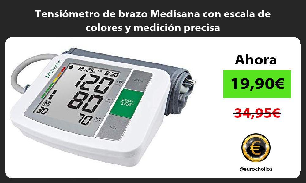Tensiómetro de brazo Medisana con escala de colores y medición precisa