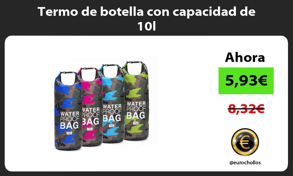 Termo de botella con capacidad de 10l