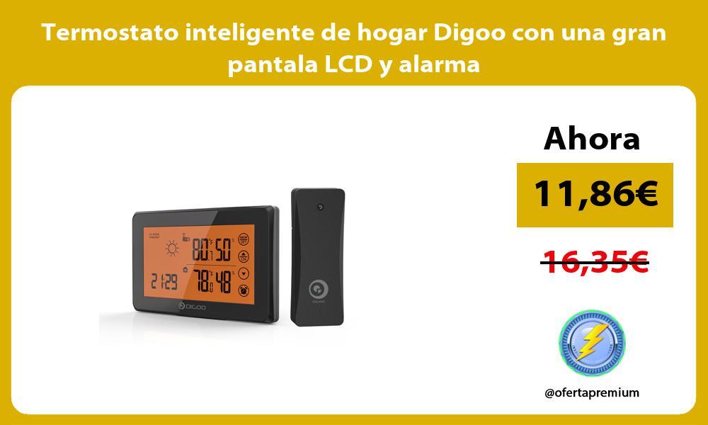 Termostato inteligente de hogar Digoo con una gran pantala LCD y alarma
