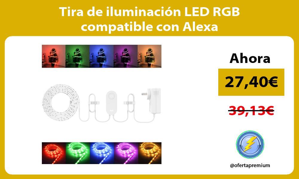 Tira de iluminación LED RGB compatible con Alexa