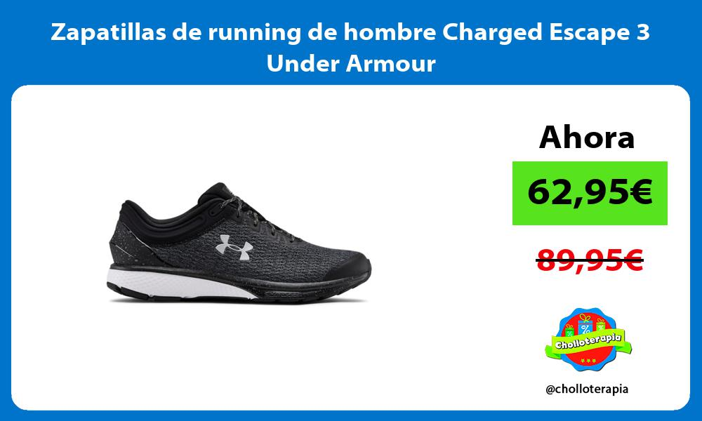 Zapatillas de running de hombre Charged Escape 3 Under Armour