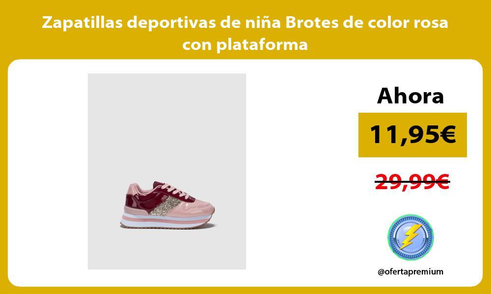 Zapatillas deportivas de niña Brotes de color rosa con plataforma