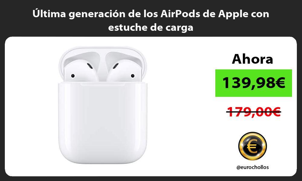 ltima generación de los AirPods de Apple con estuche de carga