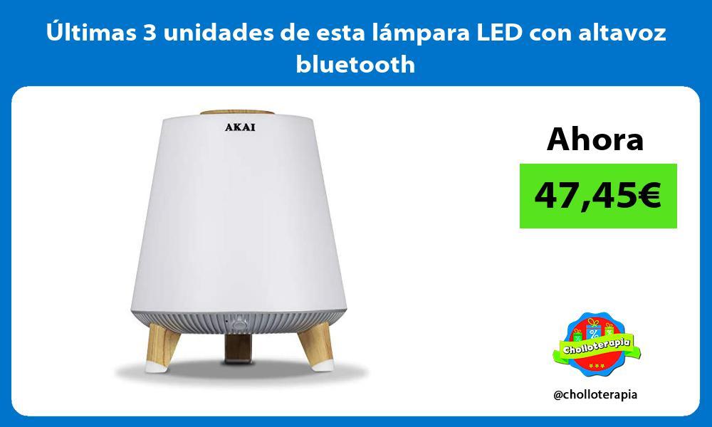 ltimas 3 unidades de esta lámpara LED con altavoz bluetooth