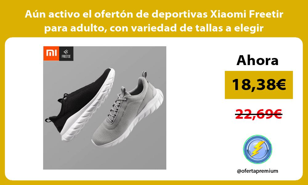 Aún activo el ofertón de deportivas Xiaomi Freetir para adulto con variedad de tallas a elegir
