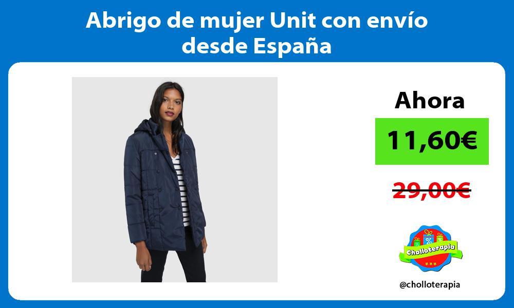 Abrigo de mujer Unit con envío desde España