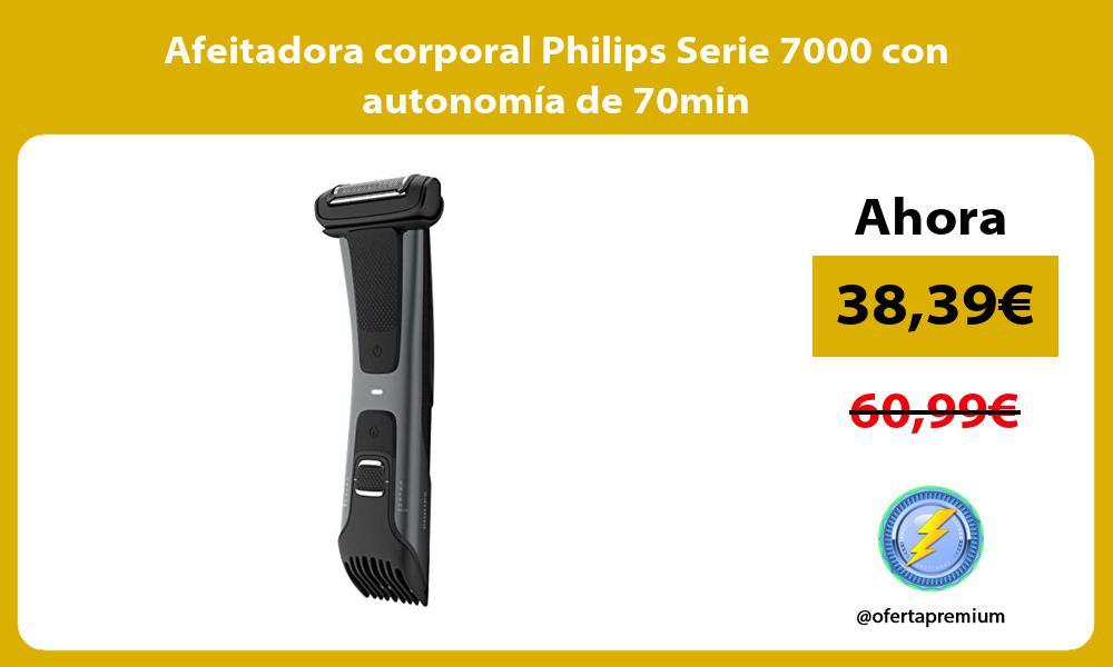 Afeitadora corporal Philips Serie 7000 con autonomía de 70min