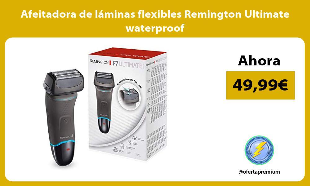 Afeitadora de láminas flexibles Remington Ultimate waterproof
