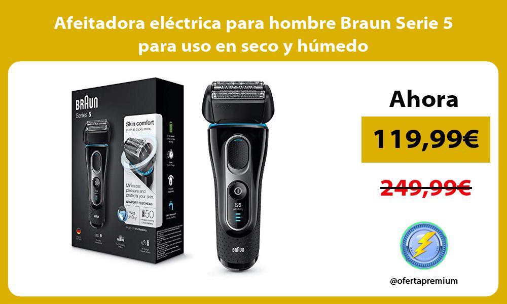 Afeitadora eléctrica para hombre Braun Serie 5 para uso en seco y húmedo