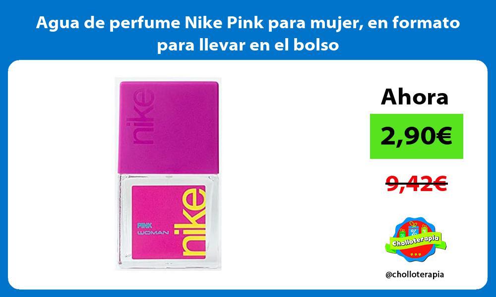 Agua de perfume Nike Pink para mujer en formato para llevar en el bolso