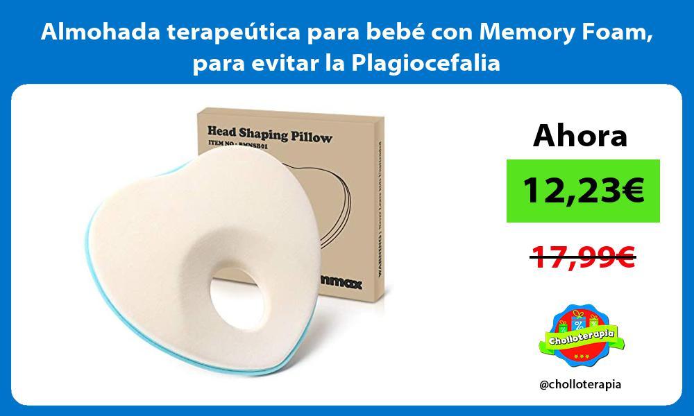 Almohada terapeútica para bebé con Memory Foam para evitar la Plagiocefalia