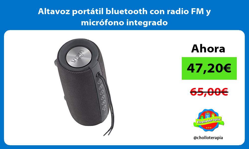 Altavoz portátil bluetooth con radio FM y micrófono integrado
