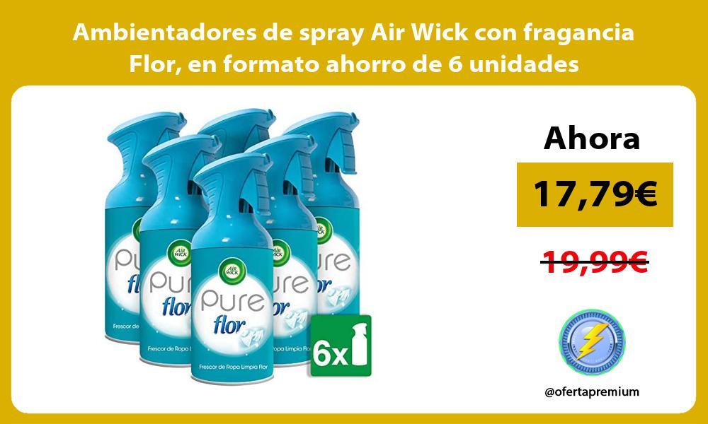 Ambientadores de spray Air Wick con fragancia Flor en formato ahorro de 6 unidades