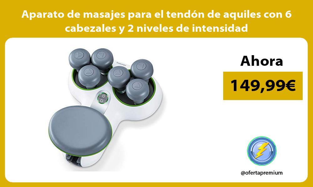 Aparato de masajes para el tendón de aquiles con 6 cabezales y 2 niveles de intensidad