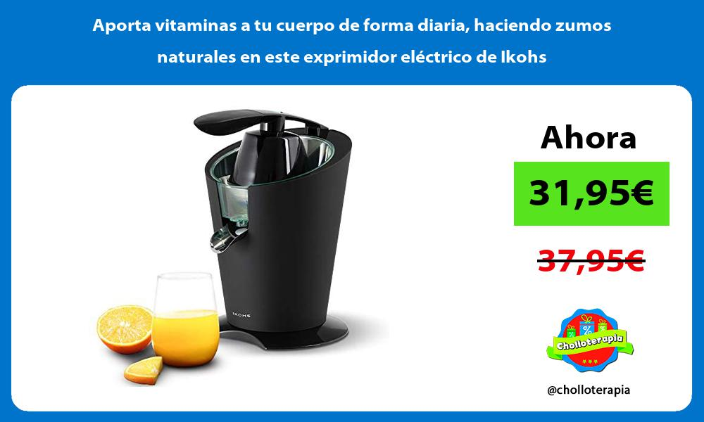 Aporta vitaminas a tu cuerpo de forma diaria haciendo zumos naturales en este exprimidor eléctrico de Ikohs