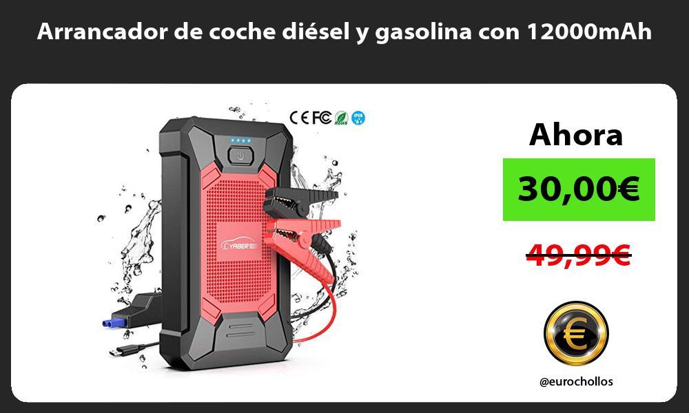 Arrancador de coche diésel y gasolina con 12000mAh