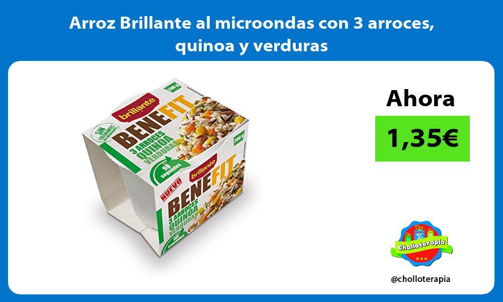 Arroz Brillante al microondas con 3 arroces quinoa y verduras