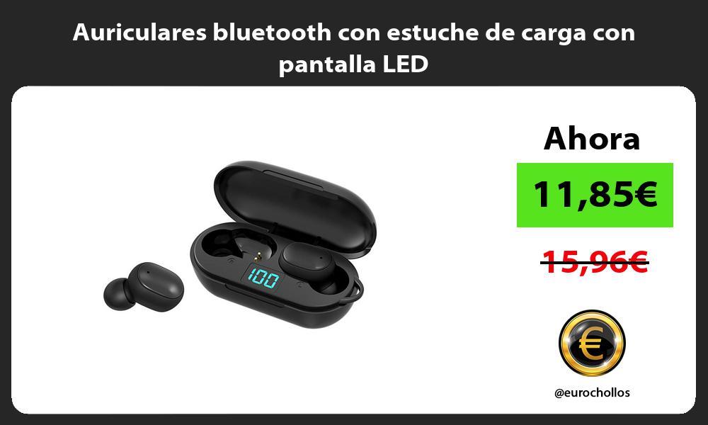 Auriculares bluetooth con estuche de carga con pantalla LED