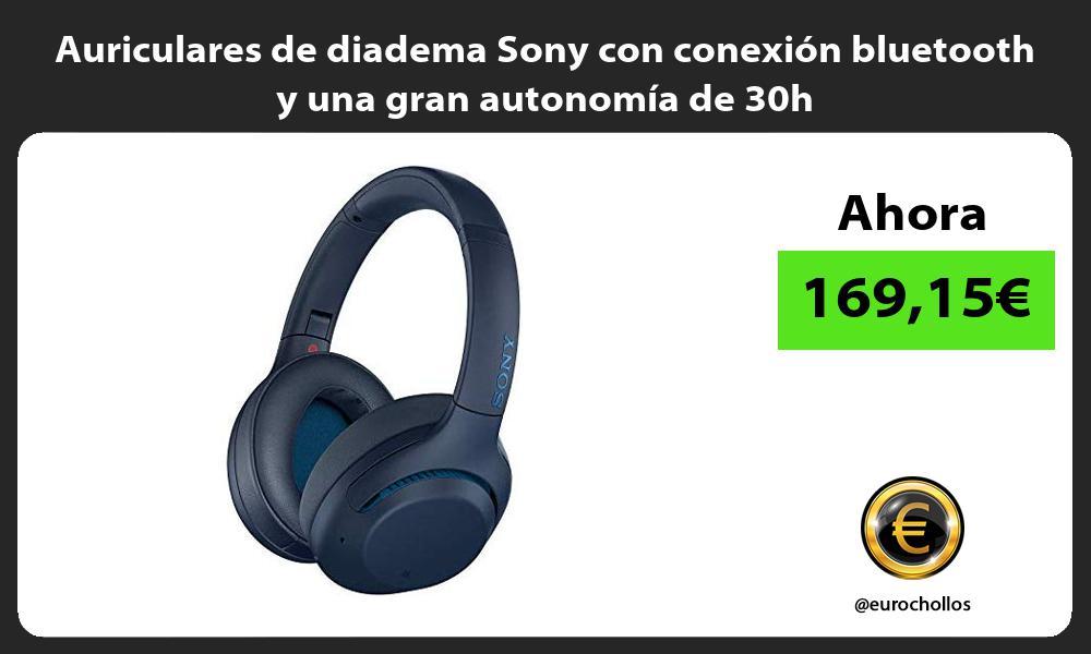 Auriculares de diadema Sony con conexión bluetooth y una gran autonomía de 30h