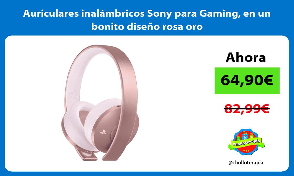 Auriculares inalámbricos Sony para Gaming en un bonito diseño rosa oro