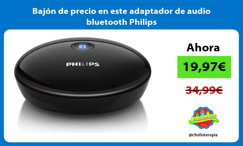 Bajón de precio en este adaptador de audio bluetooth Philips