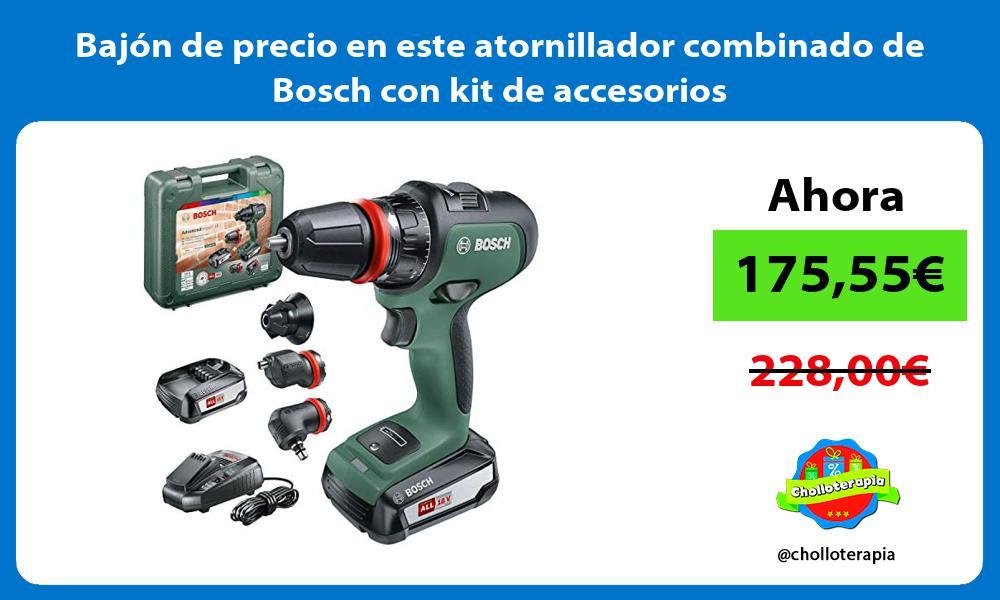 Bajón de precio en este atornillador combinado de Bosch con kit de accesorios
