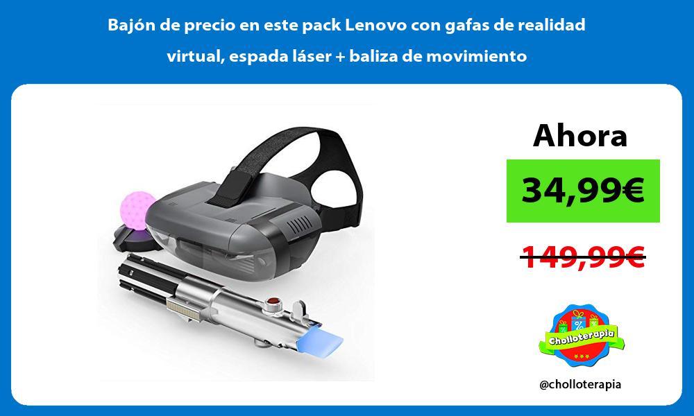 Bajón de precio en este pack Lenovo con gafas de realidad virtual espada láser baliza de movimiento