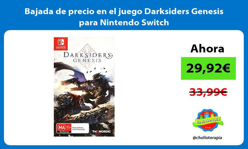 Bajada de precio en el juego Darksiders Genesis para Nintendo Switch