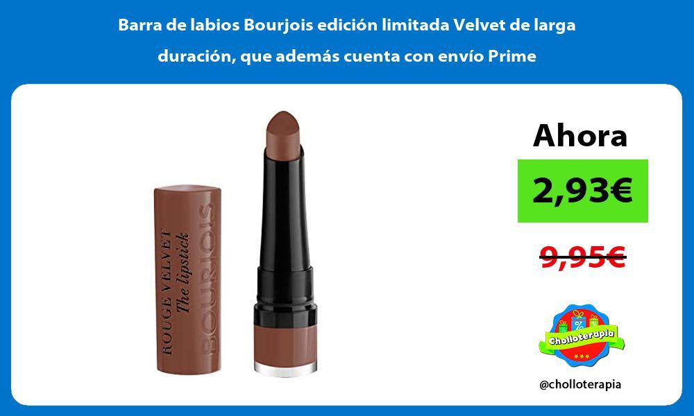 Barra de labios Bourjois edición limitada Velvet de larga duración que además cuenta con envío Prime