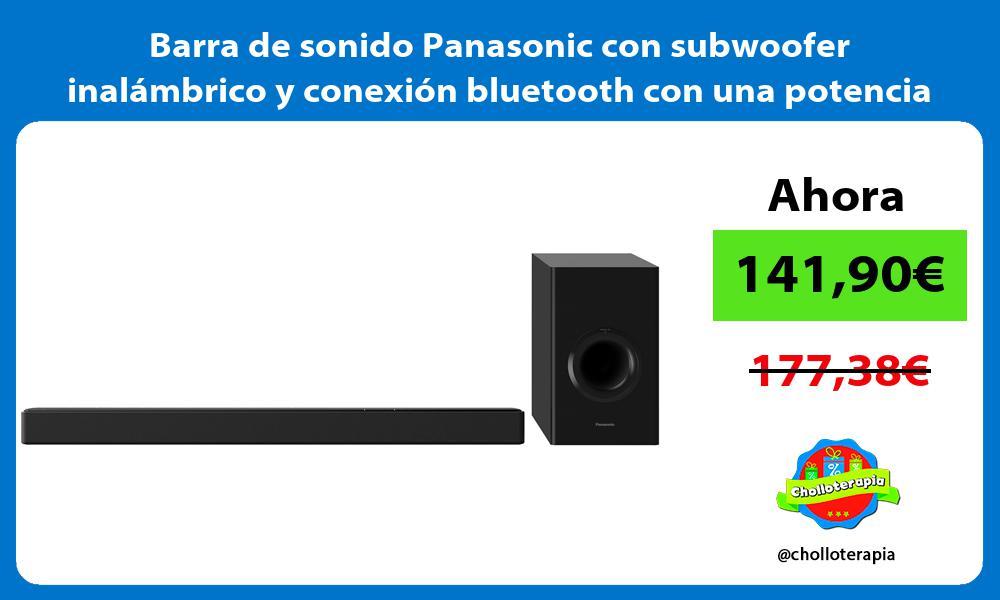 Barra de sonido Panasonic con subwoofer inalámbrico y conexión bluetooth con una potencia de 200W