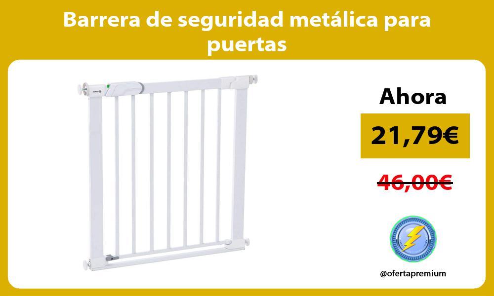 Barrera de seguridad metálica para puertas