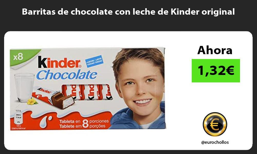 Barritas de chocolate con leche de Kinder original