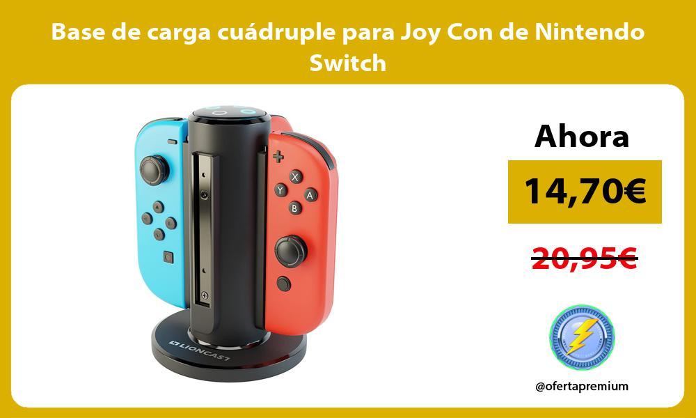 Base de carga cuádruple para Joy Con de Nintendo Switch
