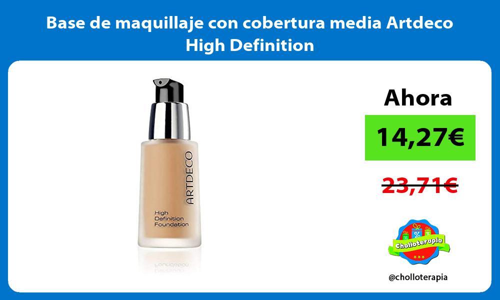 Base de maquillaje con cobertura media Artdeco High Definition
