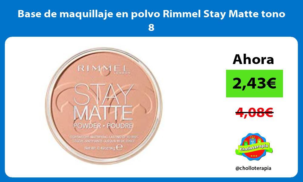 Base de maquillaje en polvo Rimmel Stay Matte tono 8