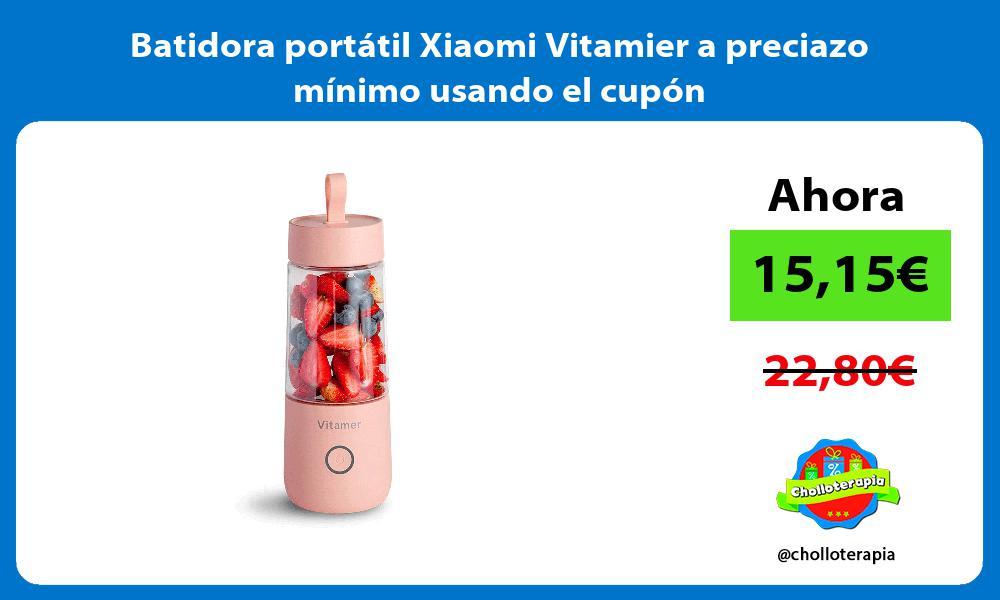 Batidora portátil Xiaomi Vitamier a preciazo mínimo usando el cupón