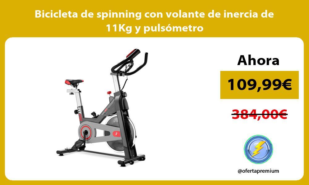 Bicicleta de spinning con volante de inercia de 11Kg y pulsómetro