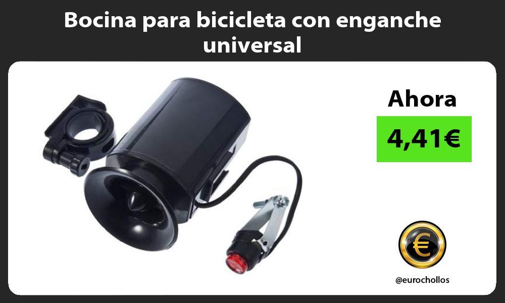 Bocina para bicicleta con enganche universal