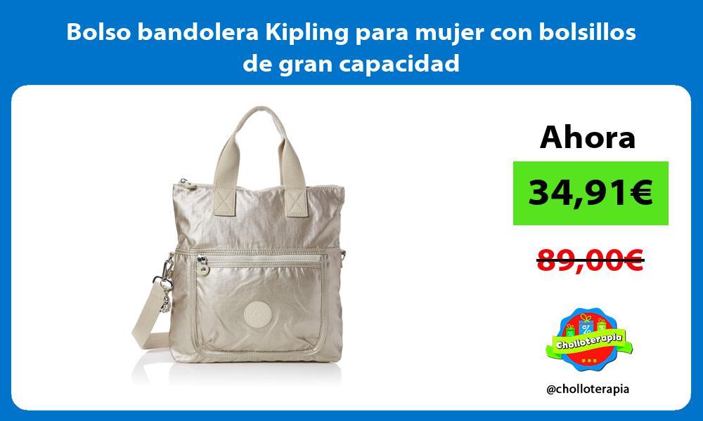 Bolso bandolera Kipling para mujer con bolsillos de gran capacidad
