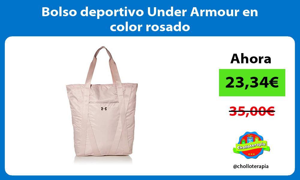 Bolso deportivo Under Armour en color rosado