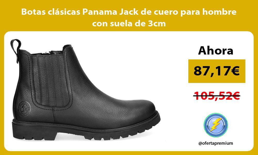 Botas clásicas Panama Jack de cuero para hombre con suela de 3cm