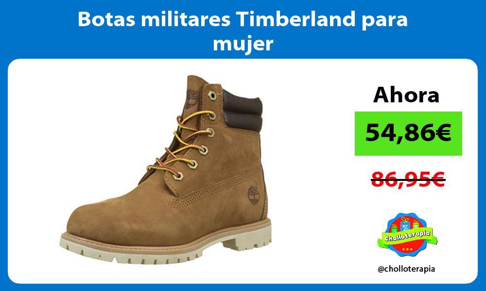 Botas militares Timberland para mujer