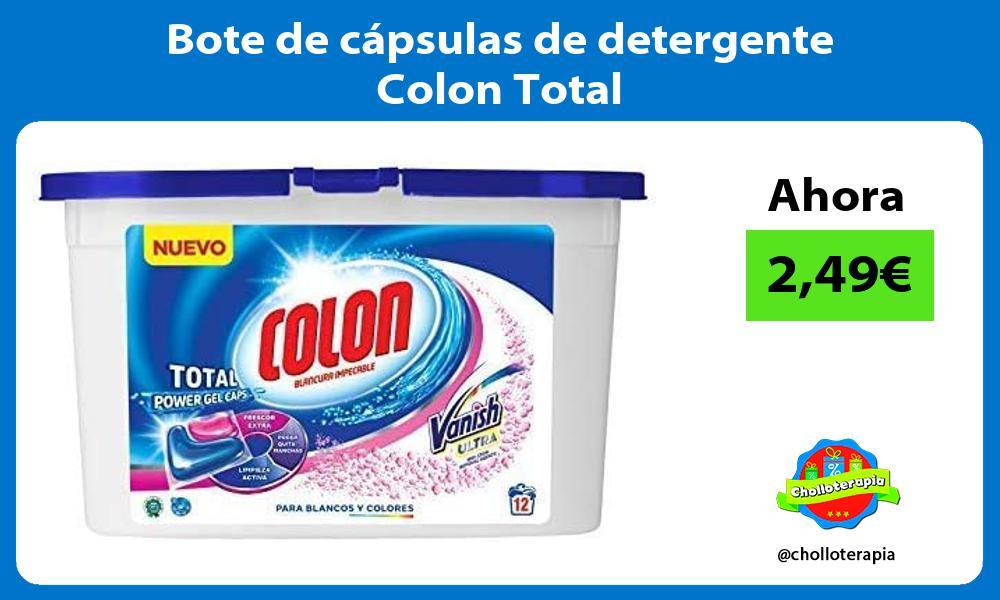 Bote de cápsulas de detergente Colon Total